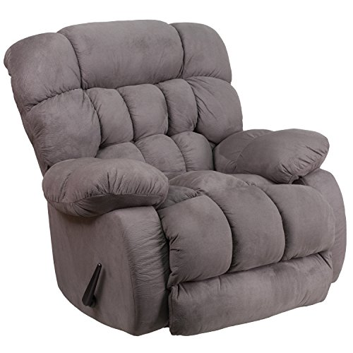 Flash Furniture Contemporary Softsuede Graphite Microfiber Rocker Recliner  sc 1 st  Amazon.com : worlds best recliner - islam-shia.org