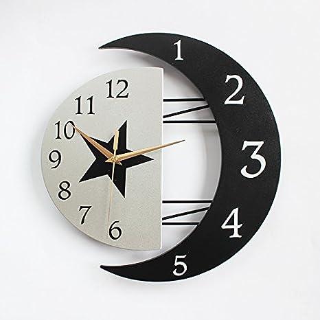 La habitación de los niños de dibujos animados reloj de pared boutique estilo europeo relojes Dibujo creativo de arte moderno minimalista gráfico de pared ...