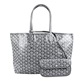 Stylestys Fashion Shopping PU Tote Bag, Designer Shoulder Handbags Purses with Key Ring (Large, Dgray)