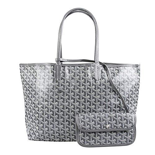 Stylesty Fashion Shopping PU Tote Bag, Designer Shoulder Handbags with Key Ring ... (Medium, Grey4)