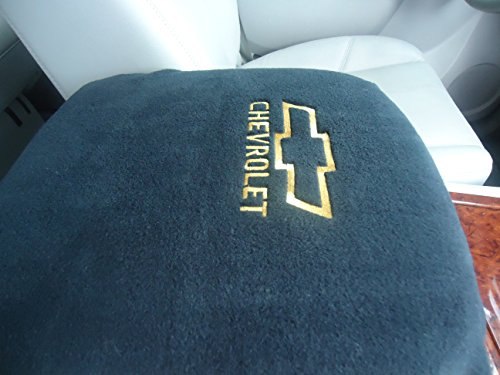 "Chevy Pickup Trucks and SUVs 2007-2013 Chevy Logo Embroidered Center Console Armrest Cover will Protect and Restore Old Damaged Consoles (Foam Insert Included) ""Your Console Must Match Photo Shown"""
