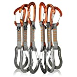 Fusion Climb 6-Pack 11cm Quickdraw Set with Contigua Orange Wire Gate Carabiner/Techno Zoom Gray Wire Gate Carabiner