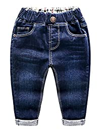 Baby Boys Girls Denim Pants Ripped Holes Jeans Trousers