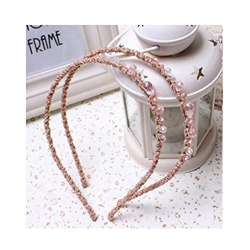 Pink Cottage Chic Crystal - Boutiages Women Party Chic Crystal Retro Rhinestone Headband