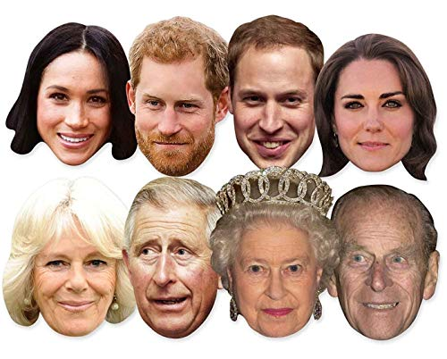 Mask Cut Out - The Royals - Multipack - 7 Celebrity Face Masks