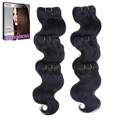 Emmet 7A Bodywave 6pcs/lot 300g 50g/pc Brazilian Human Hair Extension, with Hair Care Ebook - Warehouse Address Live