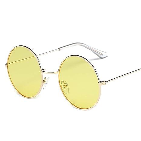 Yangjing-hl Gafas de Sol Redondas de la Vendimia Lentes de ...