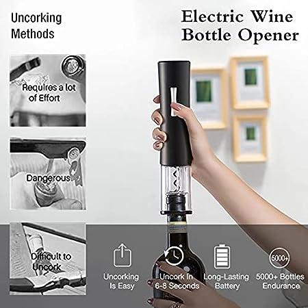 Abrelatas De Botella Automática Abrelatas De Vino Eléctrico Abrelatas De Vino Tinto Cortador De Lámina Abrelatas Accesorios De Cocina Abrelatas De Vino Recargable(Color:mi)