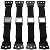 Anti Tip Furniture Kit & TV Safety Straps (4 Pack) - Adjustable Anchors 100% Metal Strap for Children Proof & Baby Proofing, Wall Anchor For Earthquake Resistant by KiddyByte