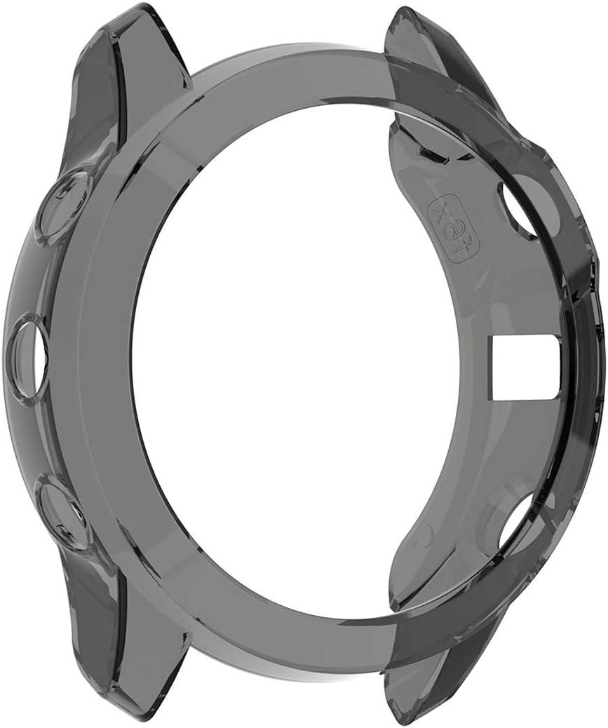 TPU Black TPU Protective Case Cover Shell for Garmin Fenix 6X MOTONG for Garmin Fenix 6X Transparent TPU Protective Case