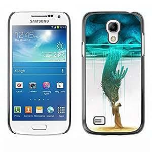 Paccase / SLIM PC / Aliminium Casa Carcasa Funda Case Cover - Teal Monster Japan Hero Sky - Samsung Galaxy S4 Mini i9190 MINI VERSION!