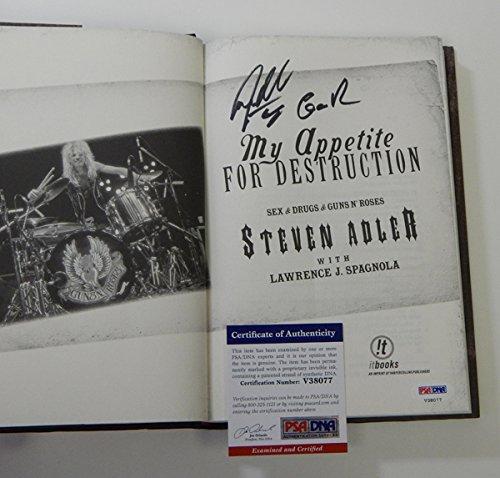 steven-adler-signed-my-appetite-for-destruction-book-auto-psa-dna-black-ink
