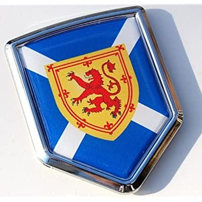 Car Chrome Decals Scotland Decal Scottish Flag Car Chrome Emblem 3D Sticker CBSHD252B: Automotive