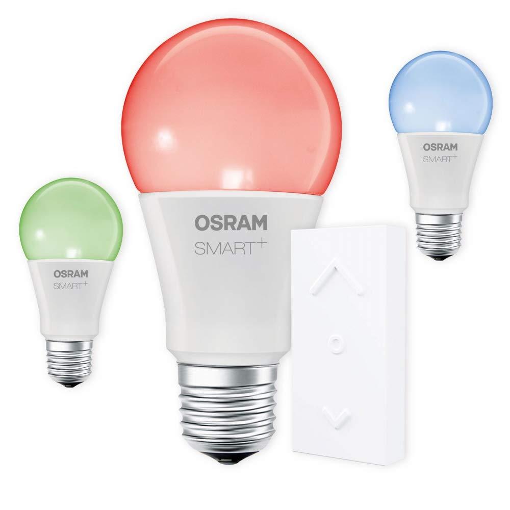 OSRAM SMART+ SWITCH KIT E27 RGB Farbwechsel LED dimmbar + Dimmschalter weiß Auswahl 3er Set