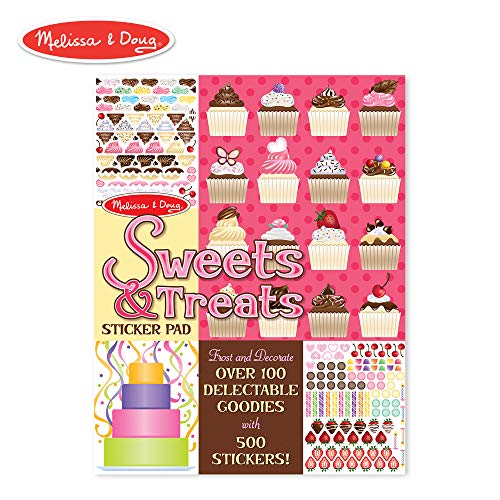 Melissa & Doug Sweets and Treats Sticker Pad - 500 Stickers, 16 Backgrounds ()
