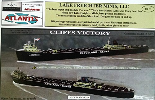 Cliffs Victory Great Lakes Freighter Boat Paper Model Atlantis Toy and Hobby