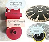 Diamond 3 1/2 Inch Coring Bit Hole Saw 5'' Diamond convex curved cutting blade 4'' polishing pad 16+1 for natural stone granite marble quartz travertine concrete masonry coring sanding grinding polisher