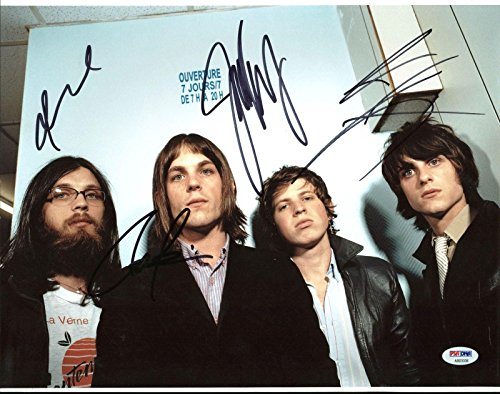 Kings Of Leon (Caleb, Nathan, Jared, Matthew) Signed 11X14 Photo #AB03336 - PSA/DNA Certified