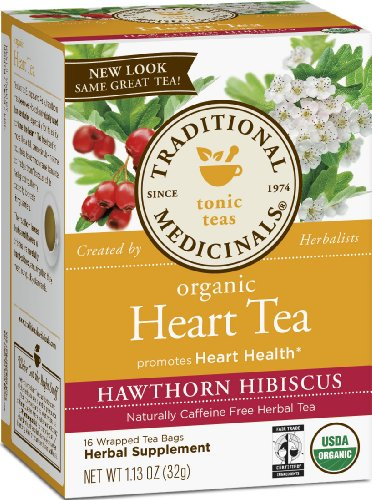 Traditional Medicinals Organic Heart Tea, 16 -Count Tea Bags, (Pack of 6)