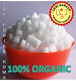 SHRI GANESH PREMIUM CAMPHOR 100% Organic Camphor Tablets for Pooja & Homa - 1 kg Jar