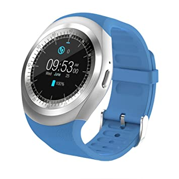 YYC Bluetooth Y1 Reloj Inteligente Relogio Android SmartWatch Teléfono Llamada gsm Sim Cámara Remoto Información Display Deportes Podómetro