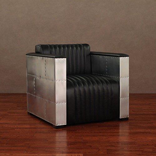 Metro Shop 'Vindicator' Modern Black Leather Chair