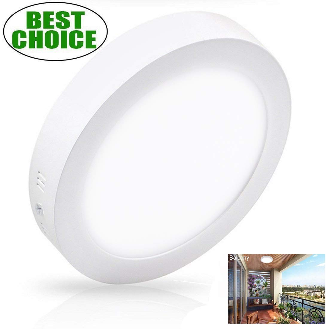 Surface mounted ceiling lights 18w led flush mount ceiling light round 8 86 1400lm replace120w halogen bulb equivalent daylight white 5000k wall