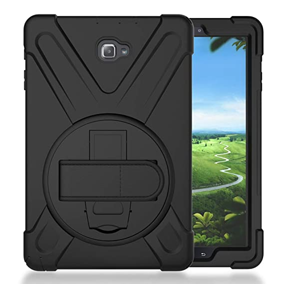 outlet store 65133 b3214 Galaxy Tab A 10.1 P580 2016 Case, KIQ Shockproof Heavy Duty Military  Full-Body Protection Kickstand Screen Protector for Samsung Galaxy A 10.1  with ...