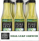 Pure Leaf Iced Tea, Unsweetened Green Tea, Leaf-Brewed, 0 Calories, 18.5 Ounce (Pack of 12)