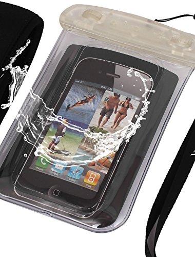 Amazon.com : eDealMax Caso impermeable seco Bolsa Bolsa de la cubierta Clear + brazal Para el teléfono celular : Sports & Outdoors