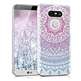 kwmobile Crystal Case for LG G5 / G5 SE with Design Indian sun - transparent Protection Case Cover clear in blue dark pink transparent