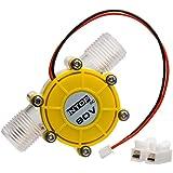 マイクロ水力発電機 流れ水充電 ハイパワー 発電機 小型 家庭用 水車 水力発電 水充電 DIY 携帯電話充電 二つパターン ライト充電 実用性 (80V)