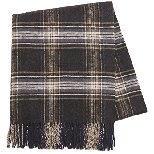 Designer Italian Glen Plaid Throws–Luxury Plaid Patterned Accent Throws Made In Italy, Cashmere-Soft, In 13 Brilliant Colors (Italian Cashmere Fabric)