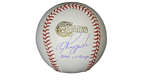 506f4a6b5ec A.J. Pierzynski Autographed Signed Rawlings Official 2005 World Series  Baseball w 2005 WS Champs - Authentic Signature