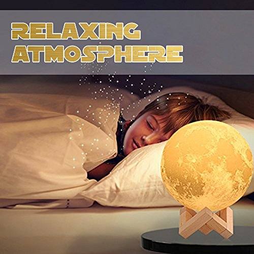 Baby Night Light, Newborn Night Light, Nursery Room Lamp, 3D Moon Lamp, Rechargeable Home Decorative Light, Dimmable Touch Control Brightness, Soothing Light, Relaxing Lamp, Helps You Sleep by Tmore (Image #7)