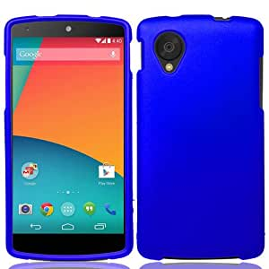 Blue Hard Case Phone Cover for LG Nexus 5 + Keychain Tool