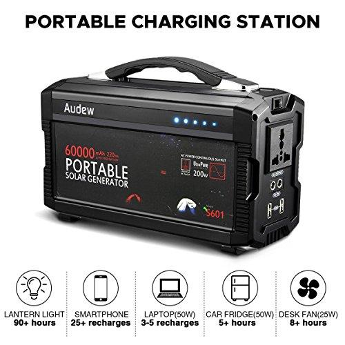 Audew 220wh 60000mah Portable Battery Generator Power