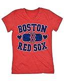 5th & Ocean MLB Boston Red Sox Baseball Team Girl's Short Sleeve Graphic Tee, T-Shirt