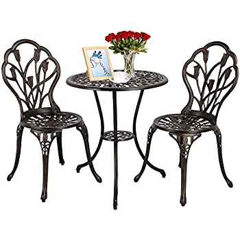 Amazon.com : Patio Sense 61490 Arria Bistro Set, Antique ...