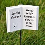Special Husband Memorial Book Tribute Stick with Message by Angraves