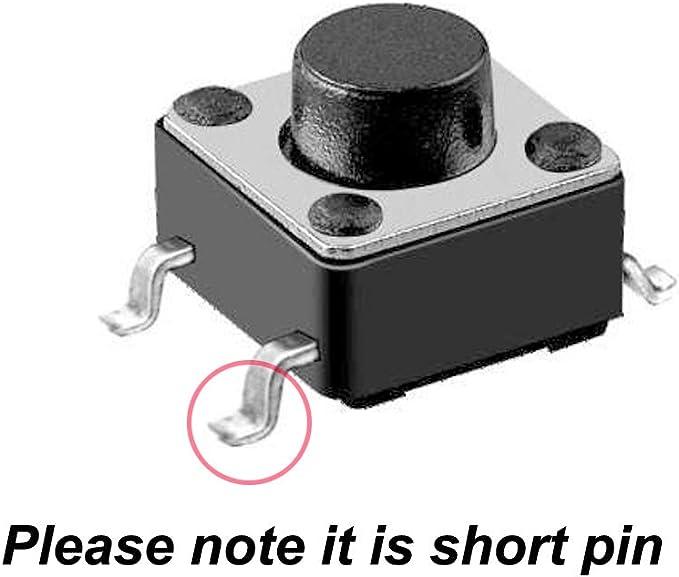Gebildet 200pcs 6/×6mm Pies Largos Interruptor de Boton Tactil,Tacto Momentaneo Interruptor Cada Talla 20pcs Utiliza en El Campo de los Productos Electronicos ect 6/×6/×4.5//5//6//7//8//9//10//11//12//13mm