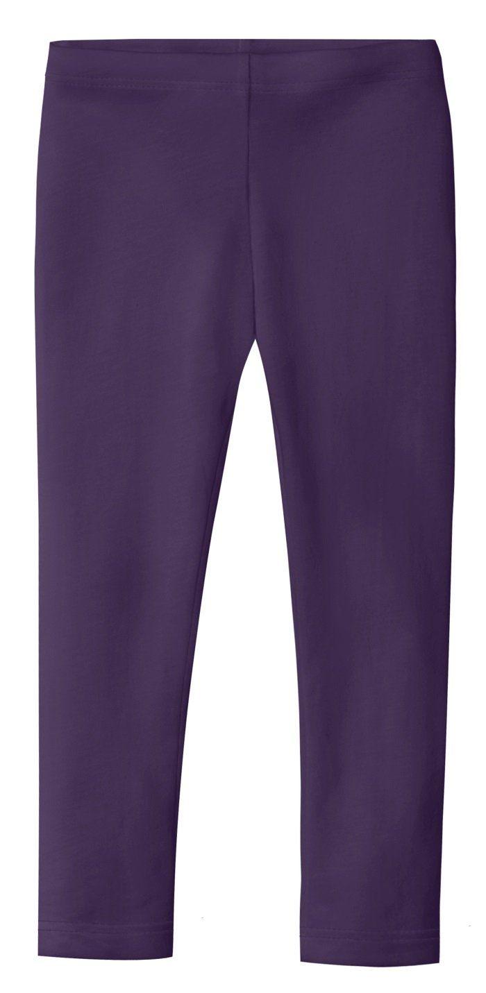 City Threads Little Girls' Organic Cotton Leggings Solid for Under Skirts and Dresses SPD Sensory Friendly for Sensitive Skin, Purple, 2T