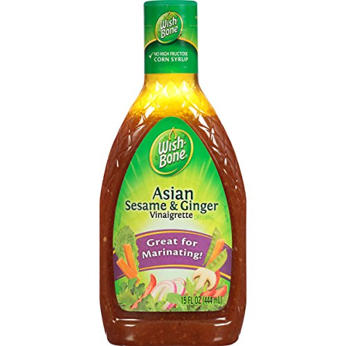 Wish-Bone Salad Dressing, Light Asian with Sesame and Ginger Vinaigrette, 15 Ounce