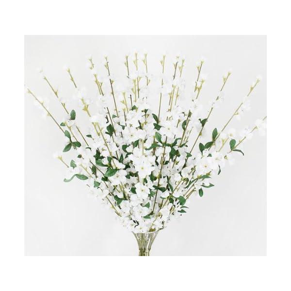 24 pieces of 27″ Cherry Blossom Artificial Silk Flower Sprays White