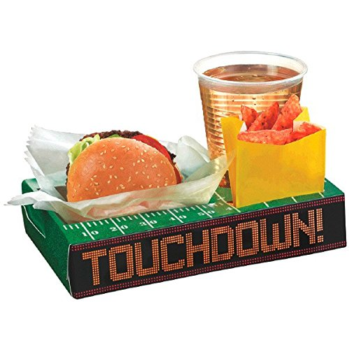 Football Frenzy Birthday Party Tailgate Trays Serve ware, Paper, 2
