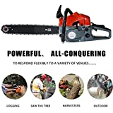 Hurbo 2 Stroke 52cc 20inch Saw Blade Petrol Chainsaw Outdoor Garden Yard Use with Tool Kit(Orange 2)