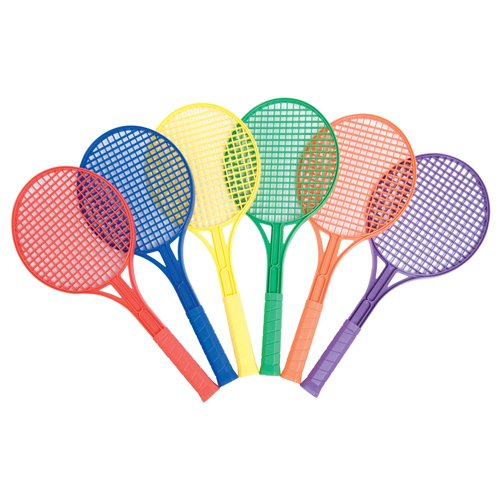 US Games Junior Plastic Tennis Racquet (Set of 6)