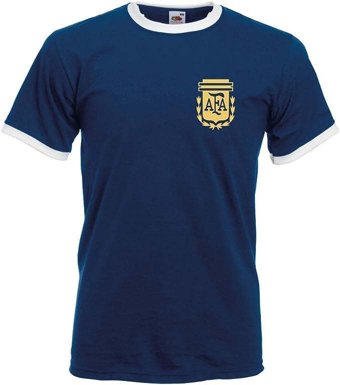 Retro Argentina de fútbol diseño de Camiseta de fútbol T-Camiseta ...