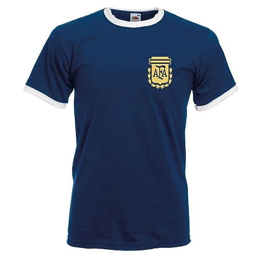 Retro Argentina Football Shirt TShirt,World Cup 74 Messi
