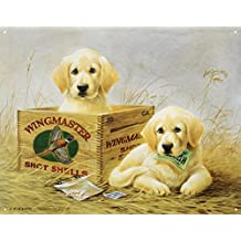 Wingmaster Shot Shells Hunting Dogs Tin Sign - 13x16